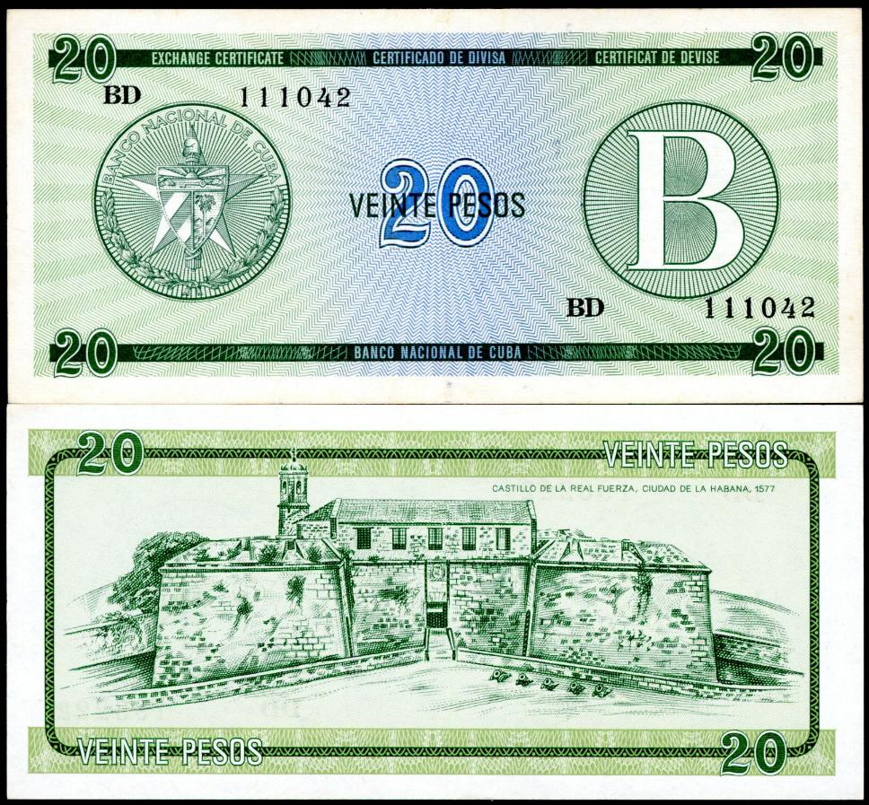 Cuba Pesos Banknotes