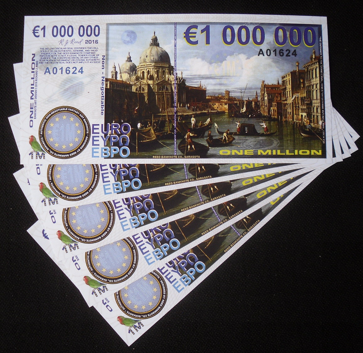 Details About Lot Of 5 Europe One Million Euro Polymer Copernicus Star Trek Fantasy Art Notes