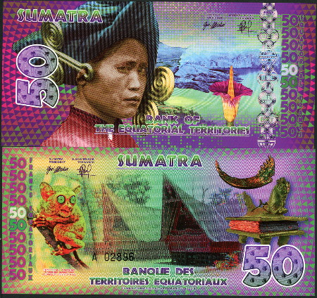Bank Equatorial Territories Borneo 20 Equatorial Francs 2014 Polymer Fantasy