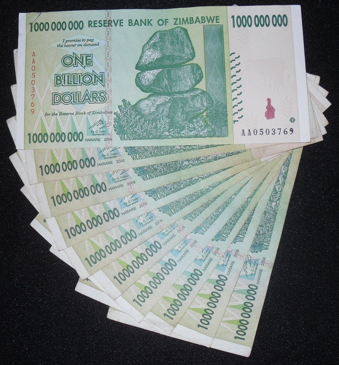 2007 UNC BANK NOTE WORLD FROM ZIMBABWE IN AFRICA 1 BEARER CHEQUE OF $1000