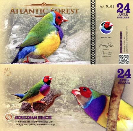 2016 Pheasant Unc Atlantic Forest 19 Aves Dollars
