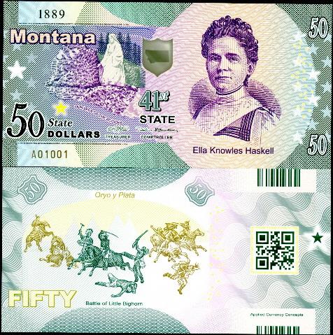 LOUISIANA POLYMER FANTASY ART BILL LA SALLE! ACC STATE BANK NOTE SERIES